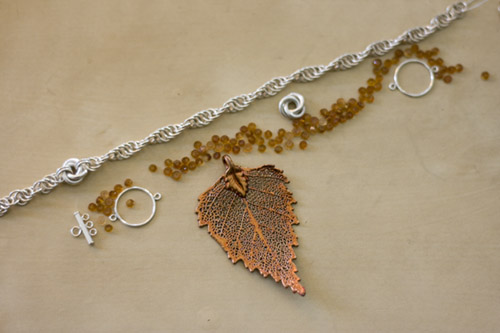 Creating Sterling Silver Ctrine and Copper Necklace