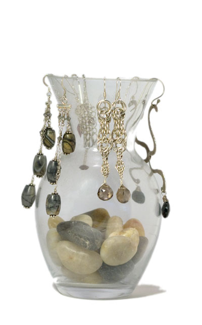 Store Earrings on a Bud Vase