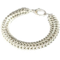 Sterling Silver Heavy Closed Round Bracelet
