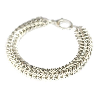 Sterling Silver Heavy Closed Round Bracelet.