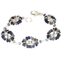 Sterling Silver Iolite Bracelet