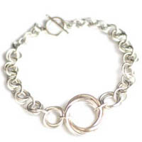Sterling Silver Mobius Knot Bracelet