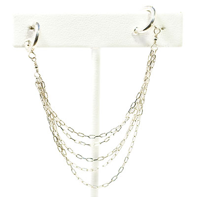 designs sterling silver chain earrings