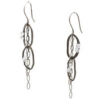 Fine and Sterling Silver Moonstone Earrings