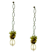 Lemon Drop Sterling Silver Earrings with Grossular Garnet and Lemon Topaz