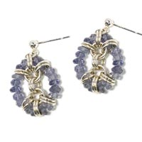 Sterling Silver Iolite-Framed Earrings