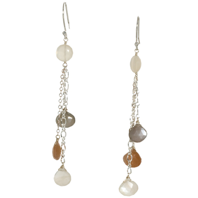 Sterling Silver Moonstone Earrings :  moonstone earrings sterling silver jewelry elena adams designs silver jewelry