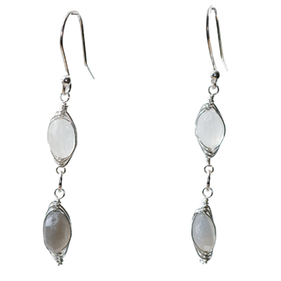 Sterling Silver Moonstone Earrings :  gemstone jewelry handmade jewelry moonstone earrings silver earrings