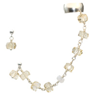 Sterling Silver Citrine and Moonstone Ear Cuff Chain