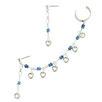 Sterling Silver Mobius and Sapphire Ear Chain