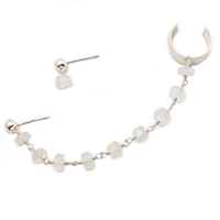 Sterling Silver Moonstone Ear Cuff Chain