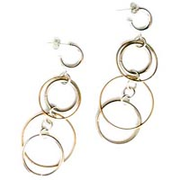 Circles of Fun: Sterling Silver and 14k Gold-Filled Earrings