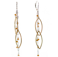Sterling Silver and Vermeil Citrine Earrings