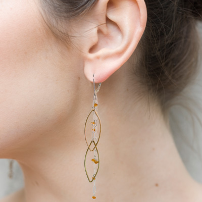 How to Wear Sterling Silver and Vermeil Citrine Earrings