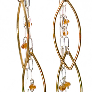 Sterling Silver and Vermeil Citrine Earringsr