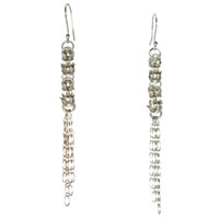 Sterling silver Byzantine Chain Earrings
