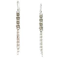 Sterling Silver Triple Byzantine Earrings