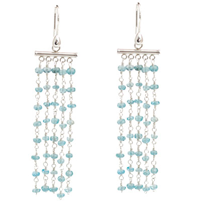 Sterling Silver Blue Quartz Waterfall Earrings
