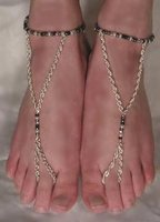 Sterling Silver and Seed Beaded Barefoot Sandals