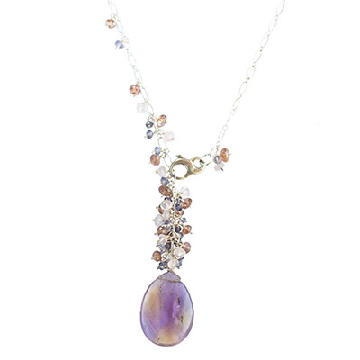 Sterling Silver Gemstone Lariat with Ametrine