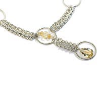 Sterling Silver Queen's Link Necklace with Citrine