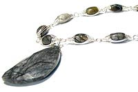 Sterling Silver Picasso Jasper Necklace