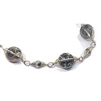 Sterling Silver Lodolite Quartz Necklace