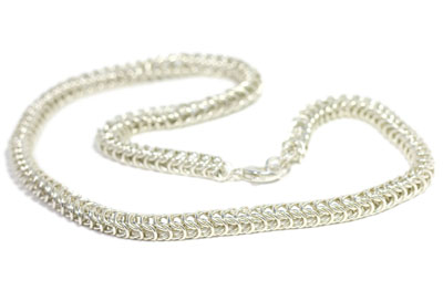 Sterling Silver Queen's Link Necklace