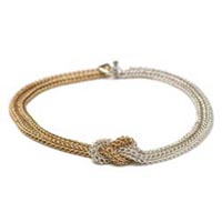 Sterling Silver and Gold-Filled Persian Knot Necklace