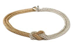 Sterling Silver and Gold-Filled Chainmail Necklace