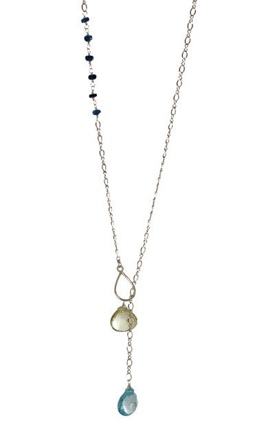Sterling Silver, Topaz and Sapphire Lariat