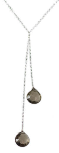 Sterling Silver Smokey Quartz Necklace