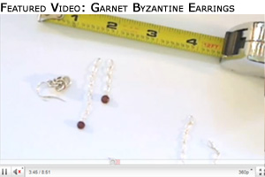 Design a Pair of Byzantine Garnet Earrings